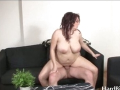 Chubby busty MILF acquires rammed