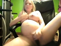 Pregnant Breasty Dildo Act