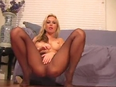 Kayden Kross in pantyhose tease movie