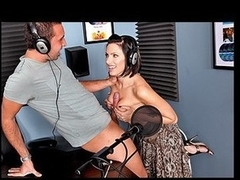 When Juelz catches her spouse admitting on a radio show that this chab has been cheating on her, that babe takes the opportunity to get her revenge on him by fucking the DJ and keeping her spouse on line so that this guy can listen in on it all.