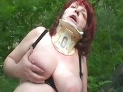 Unbelievable Huge Natural Bowels On Busty Redhead Granny Ivana