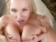 Rachel Love gets her big tits round a lucky cock