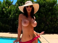 Mind-blowing brunete Jayden Jaymes will show you the most juicy melon tits youve ever seen guys