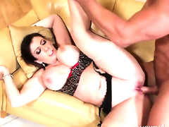 Sara Jay with juicy bottom and bald snatch gets some in steamy sex action with Johnny Castle