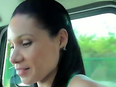 All naughty babes prefer to hang out with strangers and today we are going to show you a good example of one kinky slut, who likes to make deep blowjobs. Moreover, she is doing it in a car