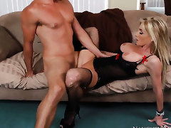 Ryan Driller inserts his ram ramrod in sinfully sexy Nadia Hiltons wet spot