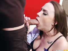 Mick Blue plays hide the salamy with Chanel Preston with gigantic hooters in steamy anal action