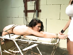 Brunette wench Bettina Dicapri can not keep her fingers off Mandy Brights fuck hole
