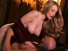 Gorgous busty blonde doll Stacie Jaxxx gets boned