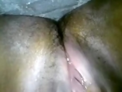 Indian slender floozy masturbates on throne-room