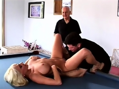 Horny husband can't live without to watch his busty blonde wife getting fucked by another guy