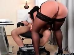 Big-tits babes sucking stepbrother big cock