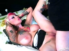 Big Titty Punk Girl Getting Her Pussy Pounded