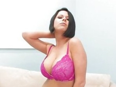 Naughty Loni Evans gets her massive melons out to play