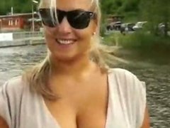 Huge juggs amateur takes money then rammed and jizzed on