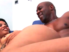 Cute Brazlian slut can't live without black dick