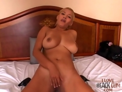 Curvy cocksucker gives him a hot titjob too