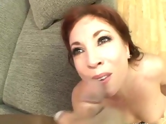 Cum craving momma Brittany Oconnell loves the hot jizz she acquires after a fuck