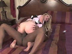 Teen Daina Divine with big titties satisfies her sexual needs with dudes tool in her mouth
