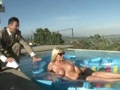 Big Tittied Blonde Loving Her Future Boss' Cock