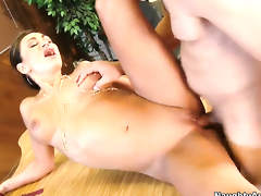 Will Powers stretches alluring Claudia Valentines love box with his rock hard cock to the limit
