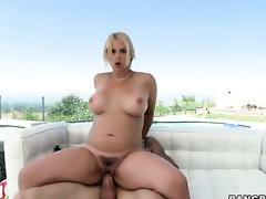 Sarah Vandella is just a slut that masturbates a guy