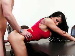 Seth Gamble is one hard-dicked stud who loves fucking Romi Rain with big tits and smooth twat