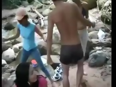 Collage Angels N Lads Outdoor Group Sex