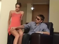 Tall and captivating model sucked my cousin's hard schlong deepthroat
