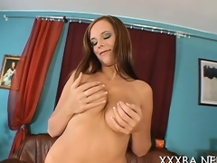 Hot siren is wet from mashing and licking her own whoppers