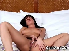 Hot Rahyndee plays with pussy and gets fucked