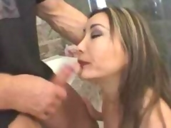 Busty asian tastes sperm