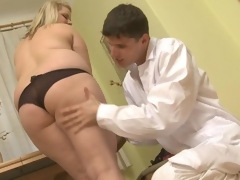 Big-Titted plumper appreciates shafting and meat stick dick sucking his massive python