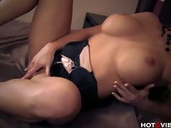 Busty Blonde Has Convulsing Orgasms