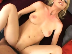 Lusty whore Anita Blue gets her pussy stabbed by a monster rod unfathomable