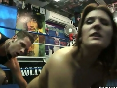 Rockin hot momma Austin Kincaid gets an awesome blast of warm cum on her mouth