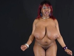 Huge melons black whore dancing