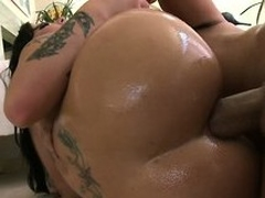 She sucks his large nob together with gets say no to excellent ass drilled abyss together with unending