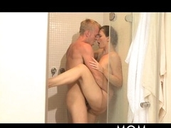 MOM Shower sex for MILF with hawt lover