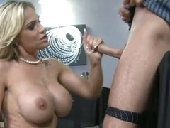 Bawdy cougar Tyler Faith can't live without getting facefucked with her boyfriend's nob