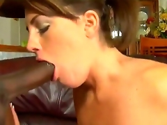Brunette Nikki Anne with juicy knockers is in the mood for pussy jerking off