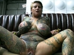 Thick slut Blackwidow XXX gets her pierced pussy fucked with huge hard cock