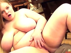 Fatty Yada demonstrates us today her unimaginably giant natural boobs and rocks her pussy