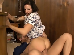 Juelz Ventura gets naughty only in her office, because only here she feels power. Her employee, Danny Wylde, has a delicious dick and she prefers to swallow it time by time
