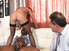 Sean Michaels plays with soaking wet love box of Janet Mason before this guy fucks her hard