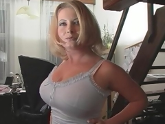 Blonde With Huge Tits Gets Her Pussy...