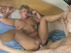 Lucky lad bangs his hot milf mommy