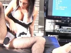Maid on duty ass jizzed