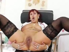 Solo action with the super hot redhead milf darja.