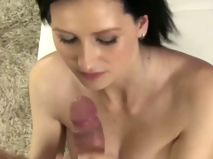 Brunette Euro Mia Shows Off Her Oral-job Skills